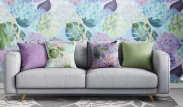 The eye candy of Lilac and Hydrangea textile patterns!